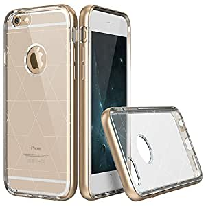 iPhone 6 Case ESR iPhone 6 Metal Hybrid Aluminum Frame Soft TPU Bumper Translucent Clear Case Cover for iPhone 6 [Free Gift: HD Clear Screen Protector] (Maze Gold)