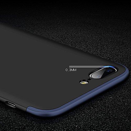 Vanki® Coque OnePlus 5, Ultra Rigide Léger 360 Case Degres Souple 3-en-1 PC Récurer Protector Shell pour OnePlus 5 Or Rose