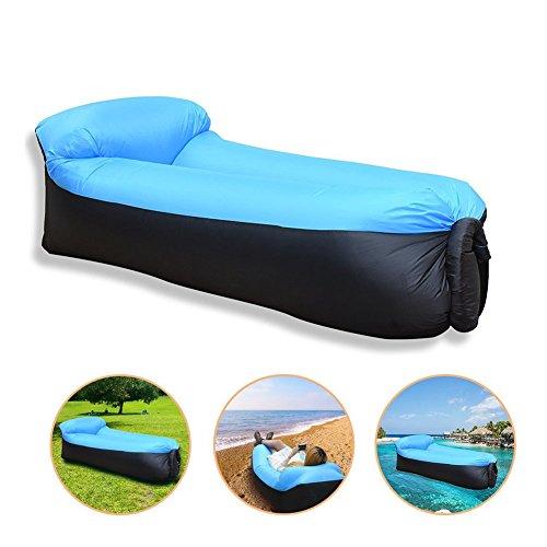 PAKELI Aufblasbare Liege,Aufblasbare Couch wasserdichtes aufblasbares Sofa mit integriertem Kissen, tragbar Air Betten Schlafen Sofa Couch Lounger für Reisen, Camping, Park, Strand, - Pfund 30 Gewichte