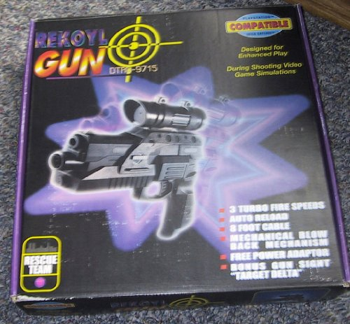 Collectors Cards and Games Light Gun w / Recoil & Machine Gun Features Sony Playstation Sega Saturn