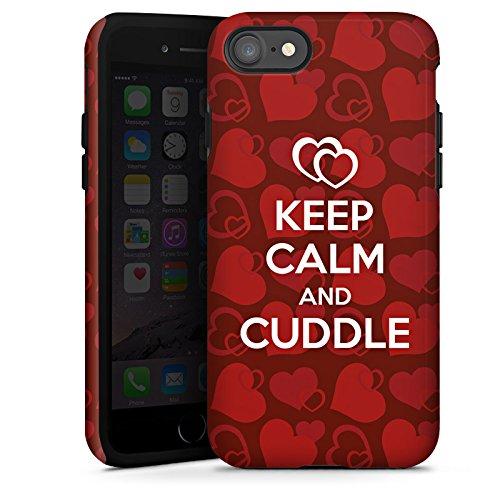 Apple iPhone X Silikon Hülle Case Schutzhülle Liebe Kuschel Sprüche Keep Calm Tough Case glänzend