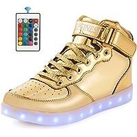 AFFINEST LED Cambi- Sneaker Scarpe Unisex Bambini Presa USB Sport