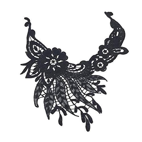 Lsgepavilion Fashion DIY Spitze Stickerei Ausschnitt Kragen Trim Frauen Kleidung Decor Nähen Applikation (Decke Baby Trim)