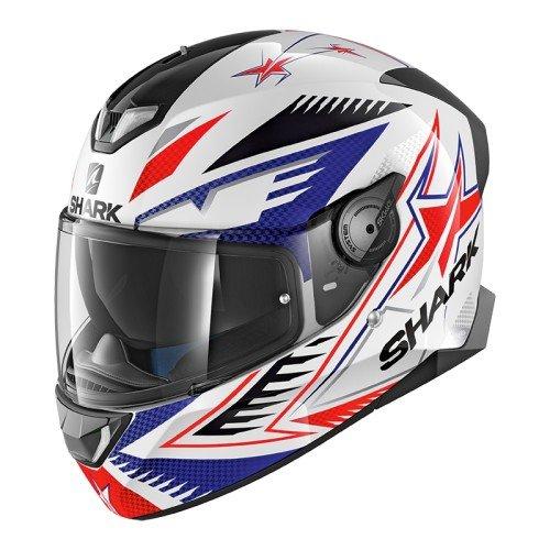 Shark SKWAL 2 DRAGHAL WBR Casco para motocicleta, blanco/azul/rojo, talla XL