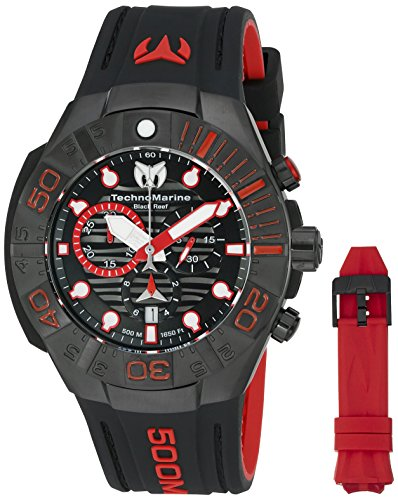Technomarine Men's 'Black Reef' Swiss Quartz Stainless Steel Casual Watch (Model: TM-515018)