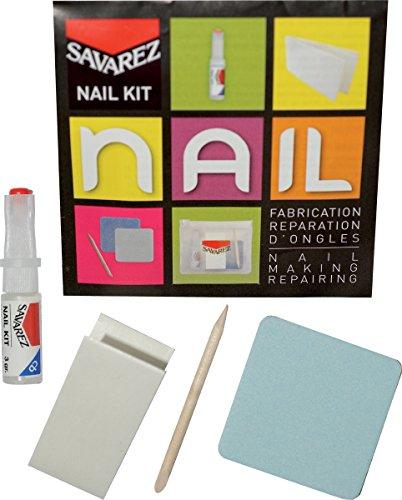Savarez kit-s1Kit Reparatur Nagelfeile Feile + Rolle Seide + Harze mit Applikator S1 Kit
