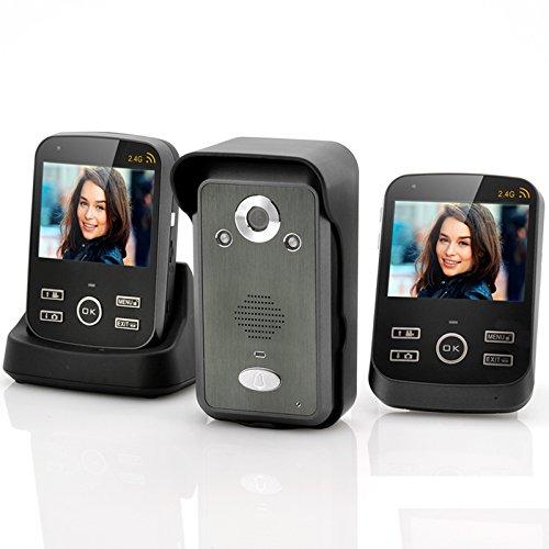 Safeguard Duo–Intercom Wireless Video/Bewegungserkennung/2Monitore 3,5/Reichweite 300m/Funktion Foto und Video -