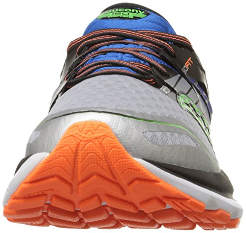 Saucony Men's Triumph ISO 2 Running Shoe, Blue/Silver/Slime, 15 M US Blue/Silver/Slime