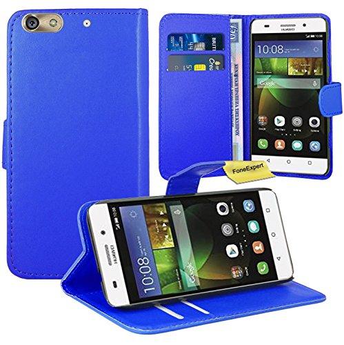 Huawei G Play Mini / Honor 4C Handy Tasche, FoneExpert® Wallet Case Flip Cover Hüllen Etui Ledertasche Lederhülle Premium Schutzhülle für Huawei G Play Mini / Honor 4C (Blau) Mini-flip-cover