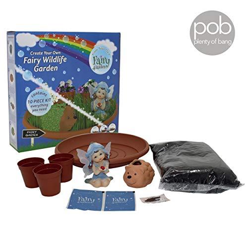 Fairy Wildlife Garden Grow Set Kreativität für Kinder, Figuren, Kunst und Handwerk alles, was Sie brauchen (Fairy Garden Kreativität Für Kinder)