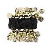 Muñequera para danza del vientre (incluye 24 monedas), color dorado y negro