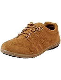 Lancer Men La-107 Tan Suede Sneakers