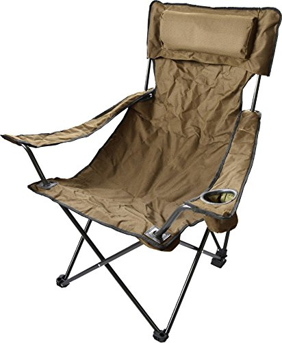Robuster-Camping-Outdoor-Angler-Klappstuhl-Outdoor-Farbe-Khaki-Deluxe