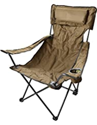 Outdoor-Faltstuhl / klappbarer Campingstuhl / Klappstuhl / Anglersessel mit Getränkehalter, in verschiedenen Farben