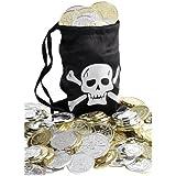 Pièces d'Or avec Sac de Pirate