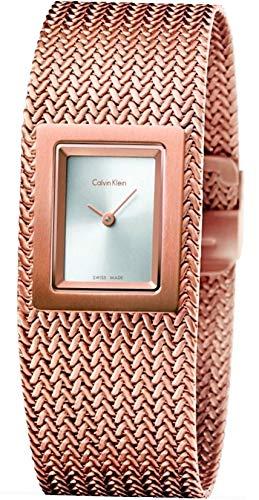 Calvin Klein Reloj Analógico para Mujer de Cuarzo con Correa en Acero Inoxidable K5L13636