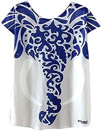 Azbro Mujer Moda Camiseta Suelta Estampado Elefante