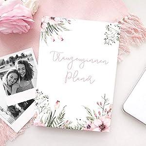 Trauzeuginnen-Planer (mit GRATIS Postkarte) | WILD FLOWERS | Trauzeugin Geschenk