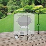 Schutzhuellenprofi Bâche de protection en PE pour barbecue rond Transparent Taille L Diamètre 93 cm