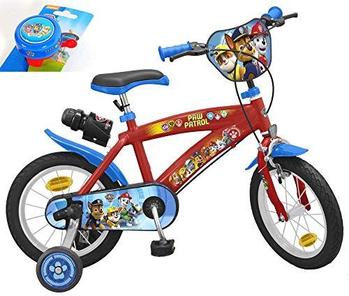 Paw Patrol Toimsa Kinderfahrrad 14 Zoll mit Trinkflasche inkl. Halterung und Extra Fahrradklingel