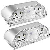 2 Pack Luces de Cerradura, SENHAI PIR Infrared IR Iluminación Nocturna Lámpara sin Hilos de Cerradura de Puerta, Detector de Movimiento Auto del Sensor, 4 Bulbos del LED