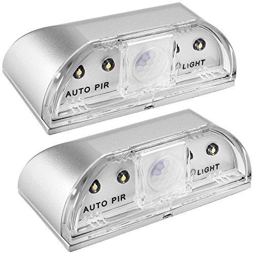 2 Pack Keyhole Lights, SENHAI Nachtlichter PIR Infrarot IR Wireless Türschloss Lampe, Auto Sensor Bewegungsmelder, 4 LED Birnen