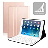 Feelkaeu Ultra-Thin Deutsche Bluetooth Tastatur Keyboard Case Cover für iPad Mini 4 SlimShell Ständer Mehrfachwinkel Schutzhülle Case Cover