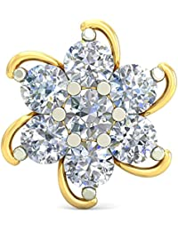 PC Jeweller The Zahala 18KT Yellow Gold & Diamond Nose Pin