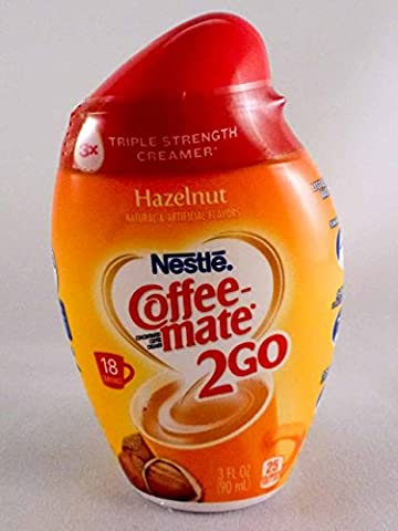 NESTLE COFFEE MATE 2 GO HAZELNUT CONCENTRATED LIQUID COFFEE CREAMER