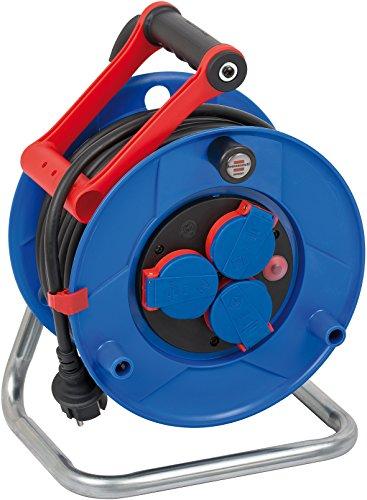 Brennenstuhl Garant IP44 Gewerbe-/Baustellen-Kabeltrommel (25m, Spezialkunststoff, Baustelleneinsatz und ständiger Einsatz im Außenbereich) blau