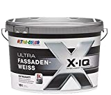 10 L Ultra Color Fassadenfarbe Silikonharz Weiß Extramatt / Spezialfarbe mit Selbstreinigungseffekt / Apperleffekt / Klimamembran