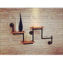 Sepia tubos creativa mobiliario estanterías de pared montados en las paredes, estanterías de madera