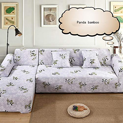 Skeby copridivano elasticizzato,copridivano reversibile doppio colore in tessuto trapuntato per divani fino a protegge da animali domestici, polvere e macchie
