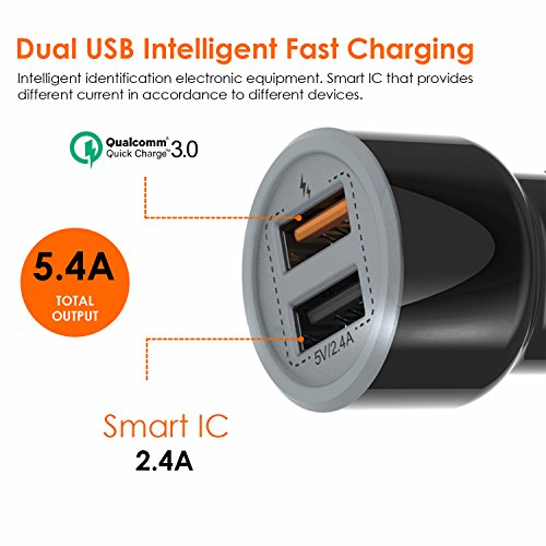 TAGG Power Bolt Smart Car Charger (Black)