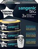 Tommee Tippee Le lot de 3 cassettes-recharges Sangenic tec accessoires pour seau à couches, blanc
