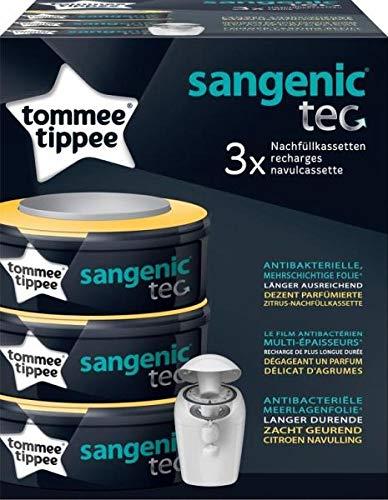 No Name (foreign brand) Sangenic TEC pacco da 3 Zitrus Nachfüllkassetten per Windeleimer