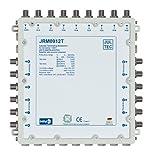 JULTEC JRM0912T 2 Satelliten Multischalter 9/12 für 12 Teilnehmer Receivergespeist ohne Strom/ Stromanschluss, Druckgussgehäuse, Neueste Generation