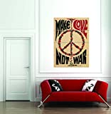 Propaganda Peace War Love Cnd Nuclear Charity USA Giant Art Print Poster