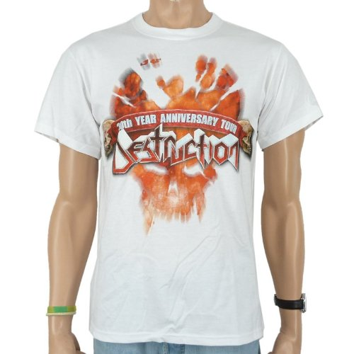 Destruction T-Shirt - Speed Metal Band, bianco, Unisex Uomo, DESTRUCTION - SPEED METAL T-Shirt, Größe M, bianco, M