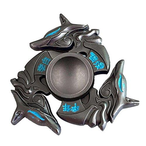 Saingace NEUE Legierung Hand Spinner Tri Fidget Fokus Spielzeug EDC Finger Spin Gyro