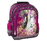 Pferd Pony Einhorn Horses Schulrucksack Rucksack Tasche mit Sticker von Kids4shop Schulranzen pink Roses