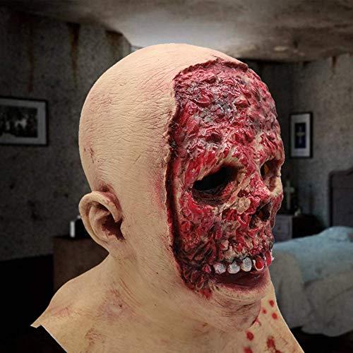 Bilder Von Kostüm Zombie - vap26 Blutige Zombie Voller Kopf Maske,Monster Maske,Kostüm Party Zerfließender Gesicht Scary Maske Latex Maske für Halloween - Wie Bild Show, 50x28cm