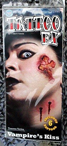 Feste Feiern Halloween Schmink Set I 6 Teile 2D Vampir Bisswunden Maske Effekt Fake Tattoo Party Deko Theater Horror