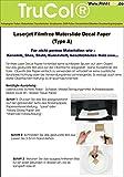 10 Blatt Wasserschiebefolie Decal Papier Transfer Folie DIN A4 transparent für Laserdrucker Kopierer (nur der Druck Wird übertragen – Keine Folie) für Glatte/Nicht poröse Materialien