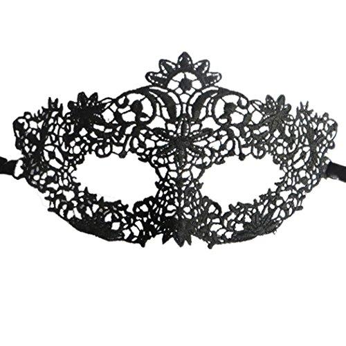 Preisvergleich Produktbild Catwoman Schwarz Spitze Maske Reizvolle Abschlussball Partei Halloween Maskerade Maske