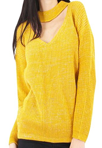comfiestyle-pull-pull-manches-longues-femme-jaune-taille-unique