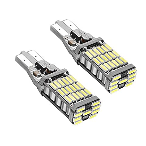 Rayhoo 2pcs 1000 lumens Extremely Bright Canbus Error Free 921 912 T10 T15 AK-4014 45pcs Chipsets LED Bulbs For Backup Reverse Lights, Xenon White