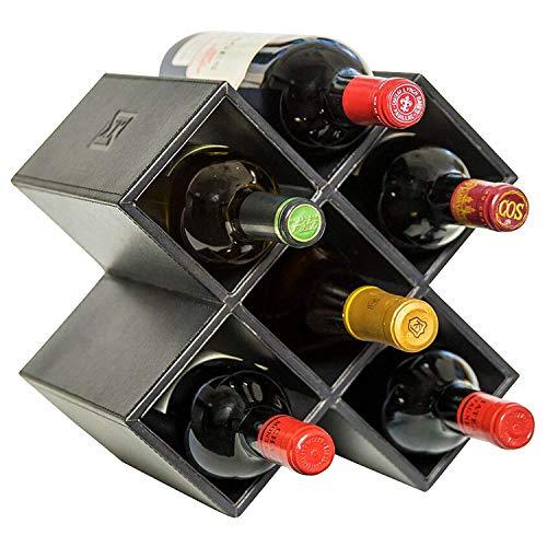 LZZNA Countertop Weinregal - 6 Flasche Dekorative Tisch Weinflaschenhalter - Keine Montage...
