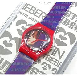 Justin Bieber Purple Analogue Fashion Watch JBB-839