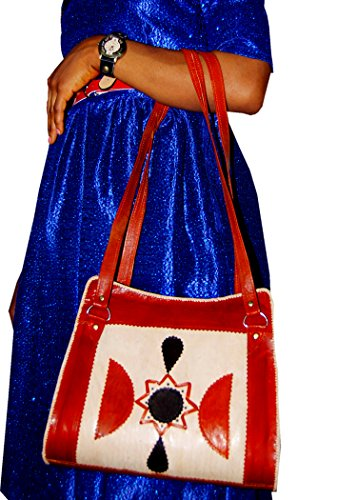 Echtes Leder Schultertasche , Handtasche , Umhängetasche für Frauen, Damen, Mädchen - handgefertigt (Gefüttert Tote Geprägte)